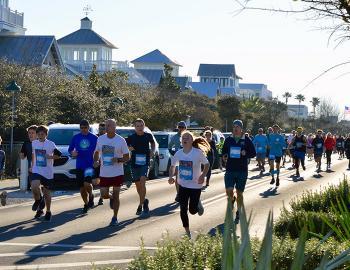 Seaside School Half Marathon and 5K run in Seaside, Florida