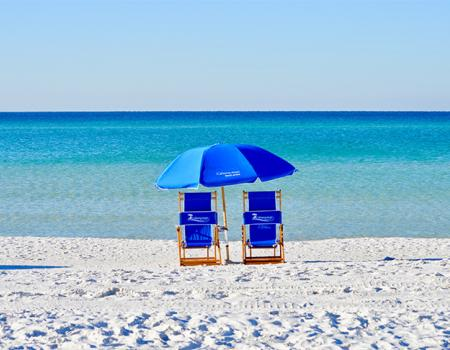 Cabana Man beach chair rental in Seaside, Florida