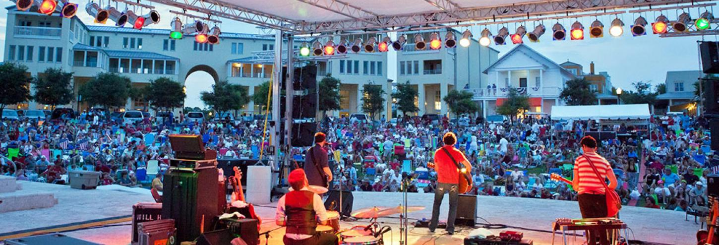 Summer Concert Series in Seaside, Florida