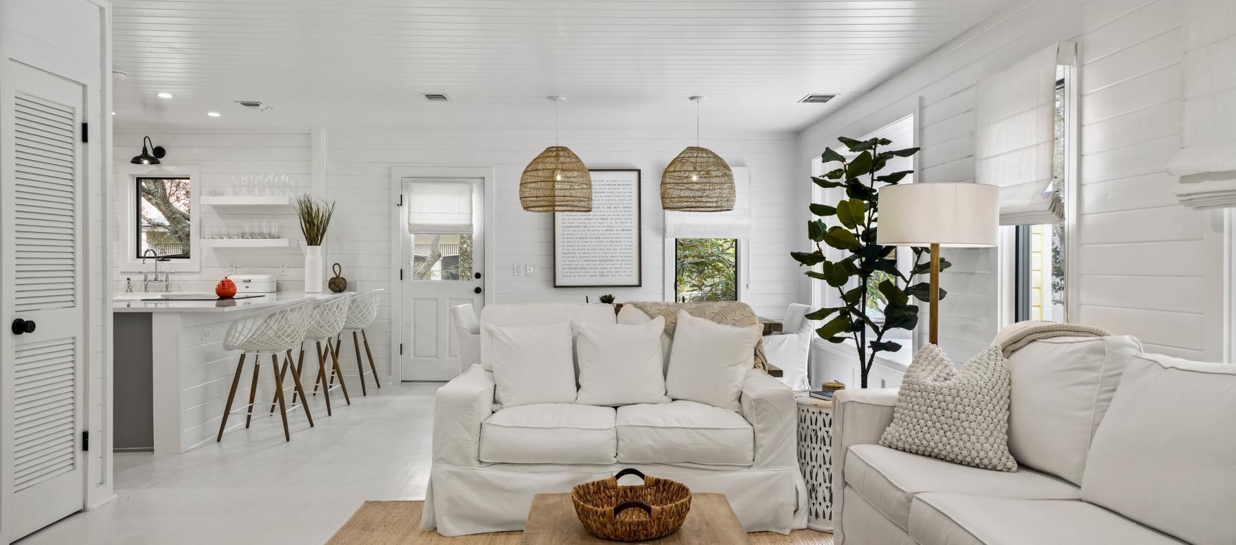 Seaside FL Almost Heaven Interior Living Area